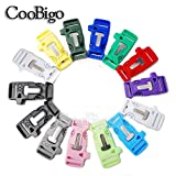 Mix 14pcs Pack 3/4'' Side Release Survival Kits Emergency Whistle Buckle Flint Fire Starter for Parachute 550 Cord Paracord Bracelet Ourdoor Hiking Camping Backpack Bag Parts#FLC160-C