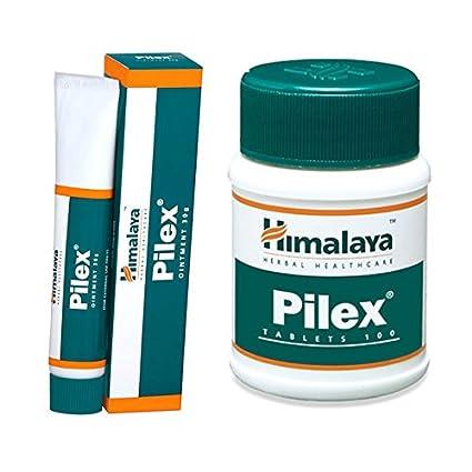 Himalaya Herbal Pilex y onguent crema hémorroïdes pilas y fisuras tratamiento solución 100/tablets
