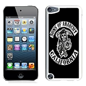 NEW Unique Custom Designed iPod Touch 5 Phone Case With Sons Of Anarchy California TV Series_White Phone Case Kimberly Kurzendoerfer