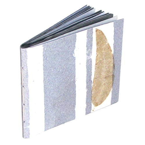Gray Stripe Handmade Dry Mount Natural Leaf Album Recycled Paper Craft Scrapbook Wedding Photos 6×8 Scrapping 16pp