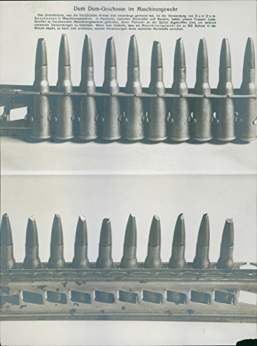 Vintage photo of The Expanding bullet during First World War. ()