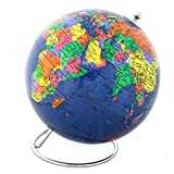 Image of Lily's Home Political World Globe With Stand - 8 Inch Diameter
