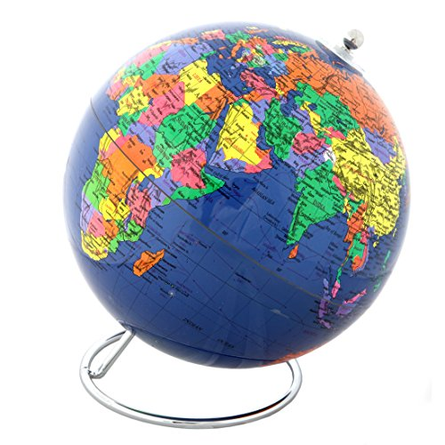 Lily's Home Political World Globe With Stand - 8 Inch Diameter (Design Pen Globe Stand)
