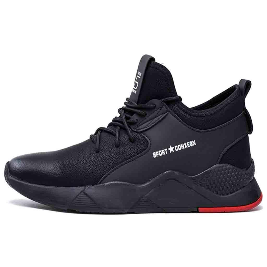 Moonuy Nouveaux Hommes Chaussures Hommes Pois Chaussures en cuir Chaussures à lacets Chaussures de sport Baskets tout-aller Chaussures de conduite