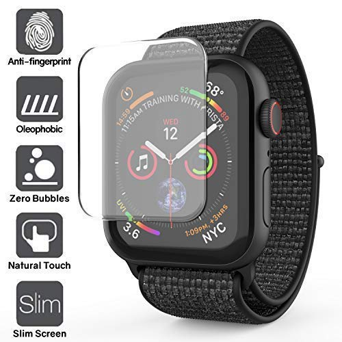 Dome Glass Apple Watch 44mm Screen Protector, Liquid Adhesive for Full Coverage Tempered Glass and Protection by Whitestone for The Apple Watch Series 4-2 Pack Glass