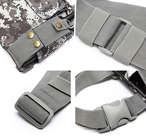Rescue Essentials abcGoodefg Radio Chest Harness Chest Front Pack Pouch Holster Vest Rig for Two Way Radio Walkie Talkie Camouflage