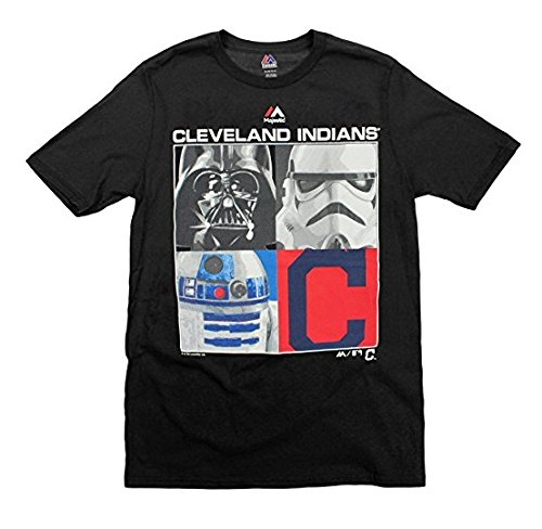 Cleveland Indians MLB Big Boys Youth Star Wars Main Character T-Shirt, Black (Black, Medium - Indian T-shirt Youth