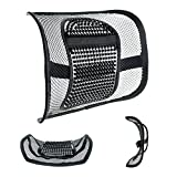 "Lumbar Support for Office Chair Mesh Lumbar Support for Car Seat or Office Chair, VEY Breathable Seating Cushion for All Types Car Seats Office Chair 12"" x 16"""