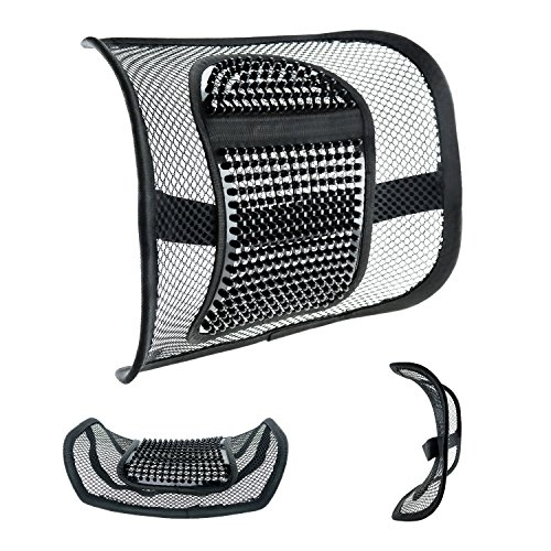 "Mesh Lumbar Support for Car Seat or Office Chair, VEY Breathable Seating Cushion for All Types Car Seats Office Chair 12"" x 16"" (Of Types Chairs Office)"