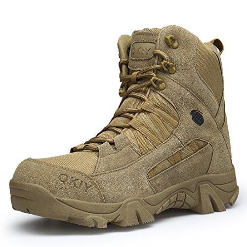 Stiefel Herren Wanderschuhe Damen Trekkingschuhe Armee Combat Tactical Boots Verschleißfest Rutschfeste Outdoor Einsatzstiefel Für Maenner Frauen Braun