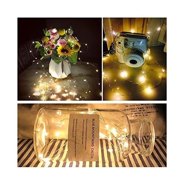 【10 pezzi】Luci Stringa LED - 20 LED 2M Mini Lampada a fili di rame Bianco Caldo, Lucine Decorative a Batteria Luci d'atmosfera Bottiglia di vino, Interni e Esterni per Festa, Natalizie, Halloween 2 spesavip