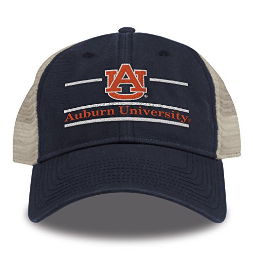 The Game NCAA Auburn Tigers Split Bar Design Trucker Mesh Hat, Navy, Adjustable