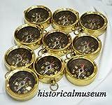 Brass compass HM522 key chain Marine Nautical Key ring Lot of 100 C