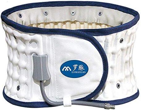 インフレータブル腰ブレース腰椎牽引固定ストラップサポートベルト痛み救済防止傷害腰減圧男性女性レギュラーサイズ63 To106 cmウエスト