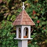 23'' Fully Functional White Classic Loretta Outdoor Garden Bird Feeder