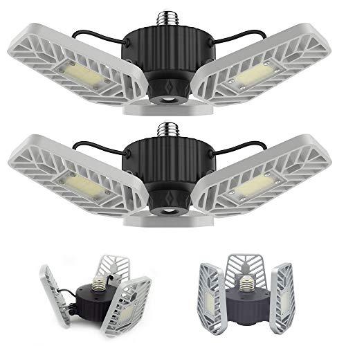 LZHOME 2-PACK LED Garage Lights, 6500Lumens E26/E27