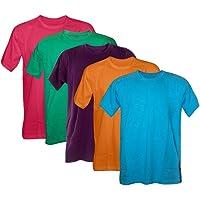Kit 5 Camisetas 100% Algodão