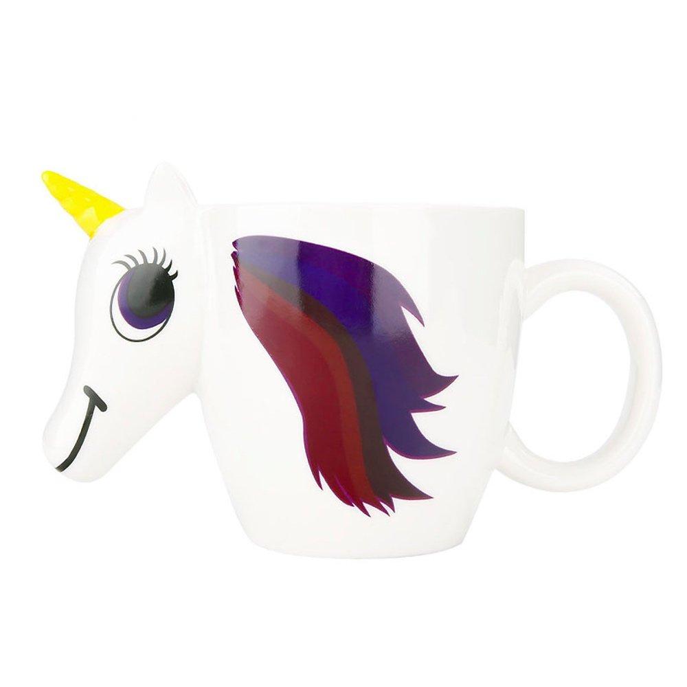 Magical Heat Sensitive Color Changing Rainbow Unicorn Magic Coffee Mug Cup Gift 3D