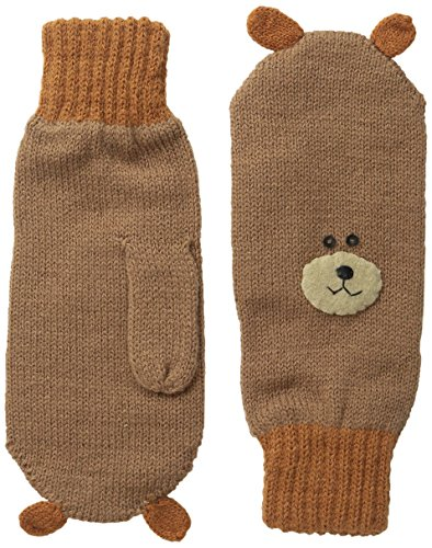 Kidorable Little Boys' Bear Mittens, Brown, Small