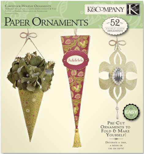 - K & Company Paper Crafting Pad CHRISTMAS ORNAMENTS