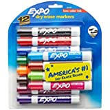 Expo Low-Odor Dry Erase Markers, Chisel Tip, 12-Pack, Assorted Colors (80699)