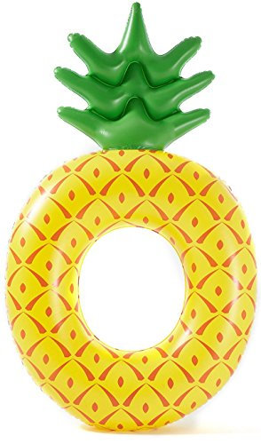 Kingswell Inflatable Pool Float Gigantic Pineapple Swimming Ring Summer Pool Beach Party Float Raft for Adult Girls Men