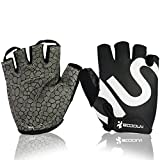 Hicool Breathable Cycling Gloves,Abrasion-Proof Crossfit Half Finger Gloves For Weight Lifting, Cross Training, Gym Workout, Exercise Bike and More Outdoor Sports (Black, L)