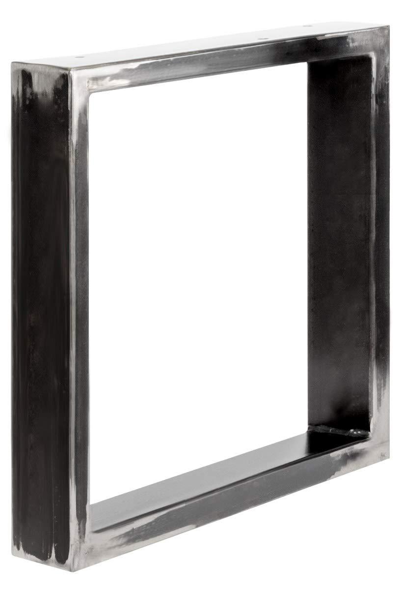 forma de marco 40x43 cm Gris Antracita 1 Pieza HLT-01-C-BB-7016 HOLZBRINK Patas de Mesa perfiles de acero 80x20 mm