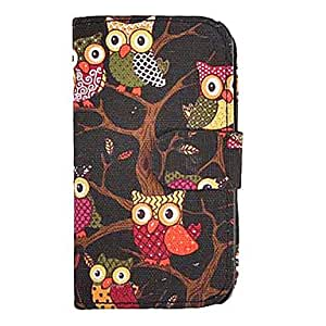 Black Owl Pattern Applique Full Body Case for Samsung Galaxy S4 i9500(Assorted Color) , Black