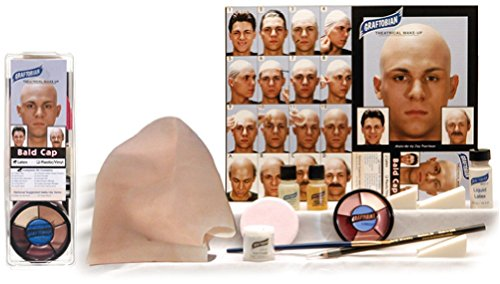 Graftobian Complete Latex Bald Cap Kit with Instructions (Professional Burlesque Costumes)
