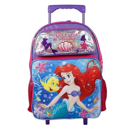 rolling backpacks for girls Amazon.com: Disney Little Mermaid Ariel 16