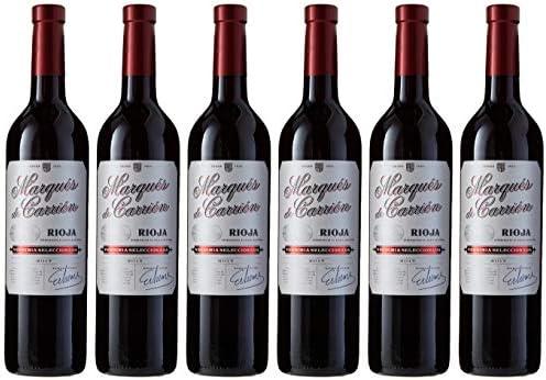 Marqués de Carrión Selección - Vino Tinto con D.O Rioja - Pack de 6 Botellas x 750 ml: Amazon.es: Alimentación y bebidas