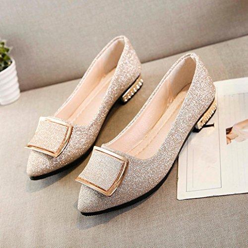 Dama Lentejuelas Ancho Fiesta Zapatos Calzado para Planos Calzado Zapatos Bajos de 428762