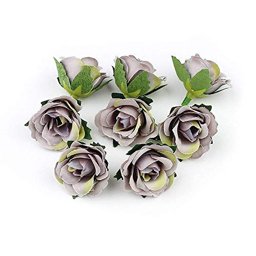 Mini Lei (FLOWER Artificial Wedding Decoration Mini Rose Head for Ball Craft Fake 30pieces/lot 3cm(Gray))