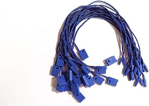 """1000 x 7/"""" Hang Tag Tags Nylon String Snap Lock Pin Loop Fastener Hook Tie Blue"""