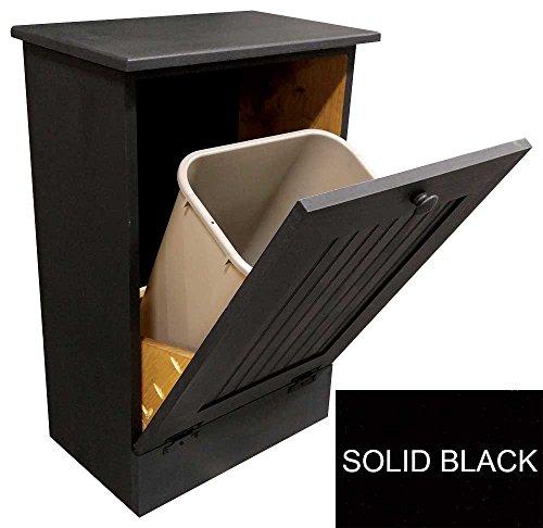 Tilt-Out Garbage Cabinet (Solid - Black)