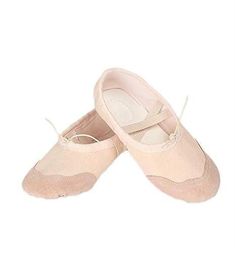 Znyo Zapatillas de Ballet de Lona Zapatillas de Baile Zapatos de Yoga para Mujer Niñas Niños