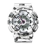 DAGE Women' s Quartz Fashion Analog Digital Sport Wrist Watch, Waterproof Outdoor Watches for Ladies - White