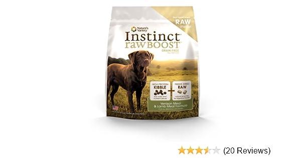 Amazoncom Instinct Raw Boost Grain Free Venison Meal Lamb Meal