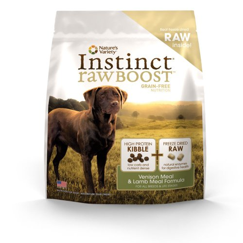 Instinct Raw Boost Grain-Free Venison Meal & Lamb Meal Formula Dry Dog Food by Nature's Variety, 12.3-Pound Bag