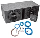 Skar Audio Dual 12' Complete Subwoofer Bass Package - Includes Subwoofers in Ported Box with Amplifier