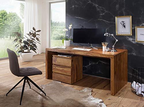 KS-Furniture BOHA - Mesa de Ordenador (Madera Maciza de Sheesham ...