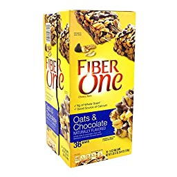 Fiber One Oats and Chocolate Chewy Bars 36 Count