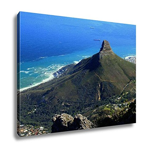 Ashley Canvas, Lions Head Cape Town South Africa As Seen From The Top Table Mountain, Kitchen Bedroom Dining Living Room Art, 24x30, AG6087532