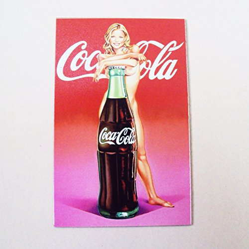 Coke Bottle Costumes For Kids (Agility Sexy Girl and a Bottle of Coke Art 1 Collectible Vintage Photo Fridge Magnet)