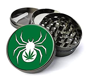 White Widow Weed Extra Large 5 Piece Spice Tobacco Herb Grinder with Pollen/Keef Catcher
