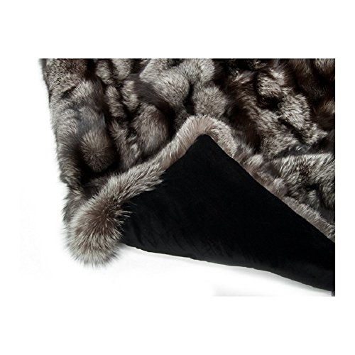 "Dennis Basso Fox Collection Faux Fur 50"" x 60"" Throw, Silver Fox from Dennis Basso"