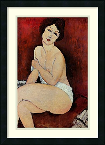 Framed Wall Art Print | Home Wall Decor Art Prints | Large Seated Nude by Amedeo Modigliani | Modern - Poster Modern Modigliani