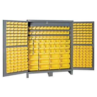 Durham 14 Gauge Steel Cabinet with 264 Hook-On Bins and F...