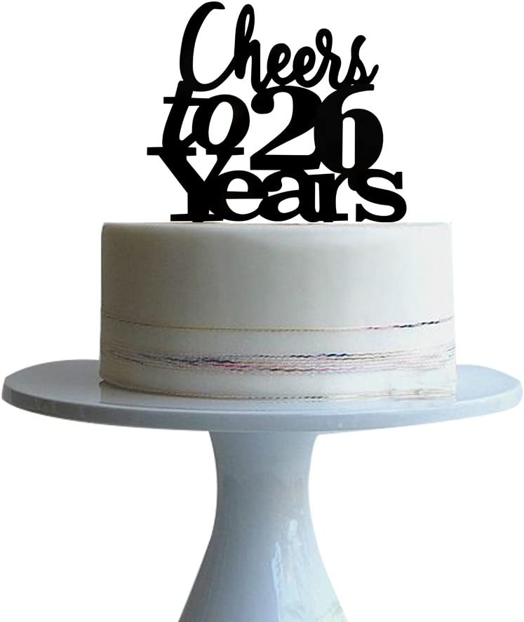 Amazing Amazon Com Btsond Cheers To 26 Years Cake Topper For 26 Years Personalised Birthday Cards Paralily Jamesorg